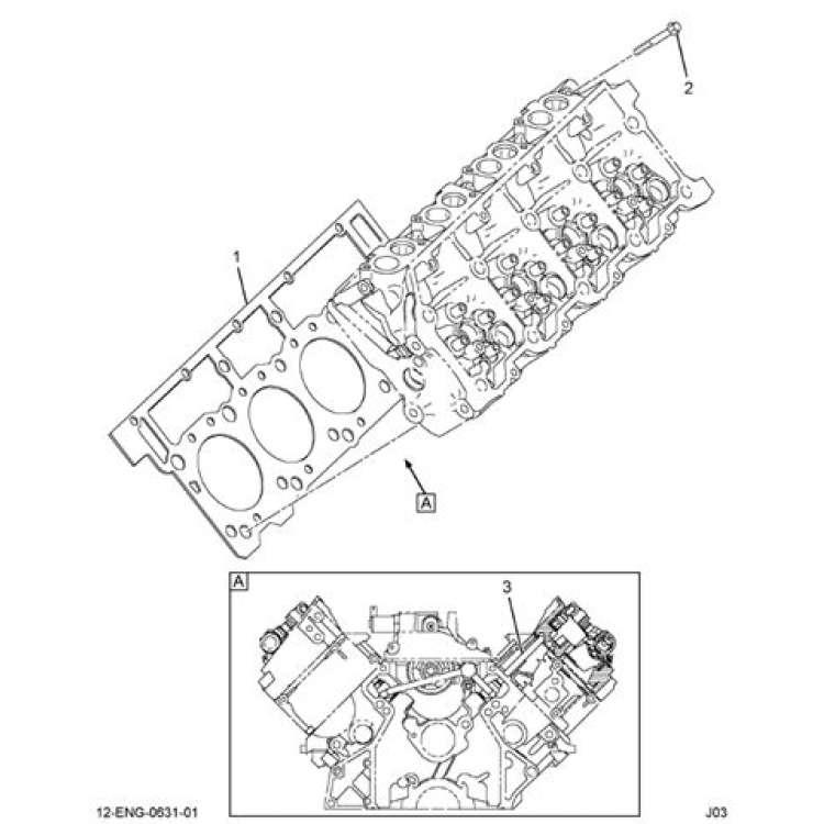 Ford 3C3Z 6051 CB 6.0L Powerstroke 18mm Head Gasket Set