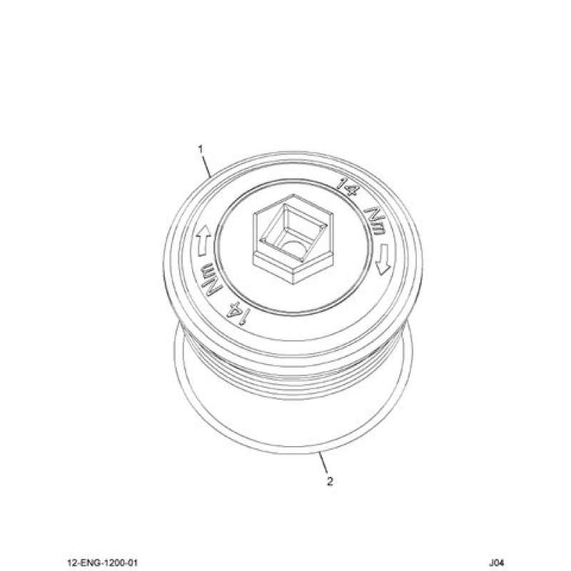 Ford 3C3Z 9G270 AA 6.0L Powerstroke Fuel Filter Cap 1843057C91