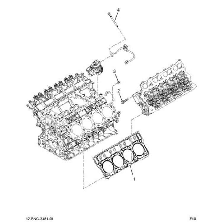 Ford 6C3Z 6051 AA 6.0L Powerstroke 20mm Head Gasket Set