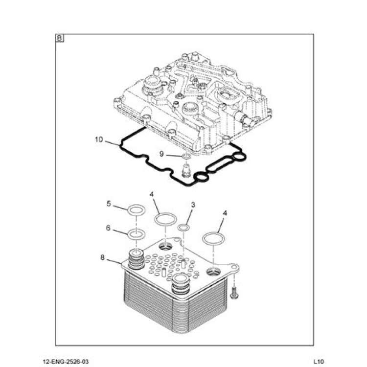Ford 6.0L Powerstroke Diesel Oil Cooler Kit 1886511C93