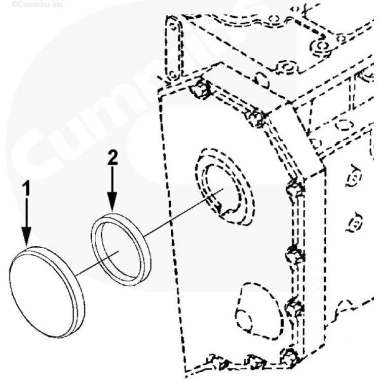 89-02 Dodge 5.9L Cummins Crankcase Vent Filter O-ring