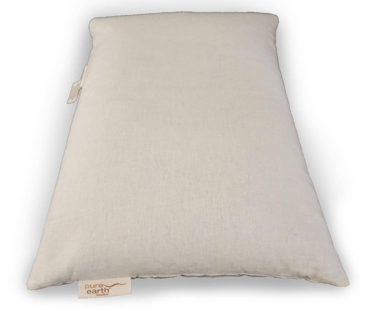 Standard Pillow  Organic Hemp Buckwheat Husk  Pure Earth