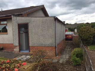 Before exterior wall coating Stirlingshire