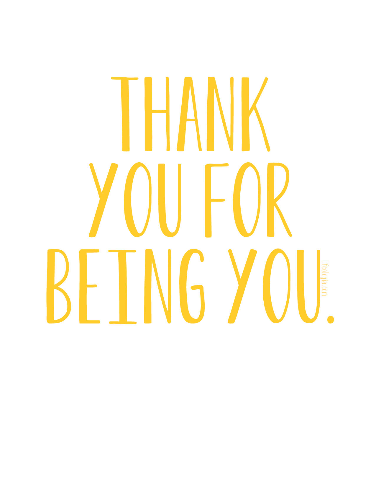 Thank You For Being You