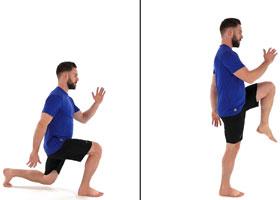 Running injury prevention - reverse lunge to runner