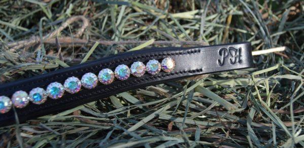 crystal black browband - aurora golden 3