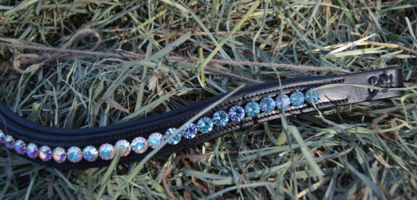 crystal black browband - blue multi w aurora 4