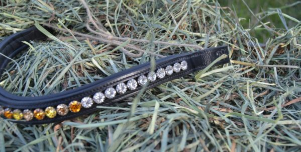 crystal black browband - golden yellow multi 2