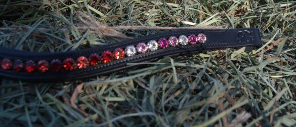crystal black browband - red multi 3