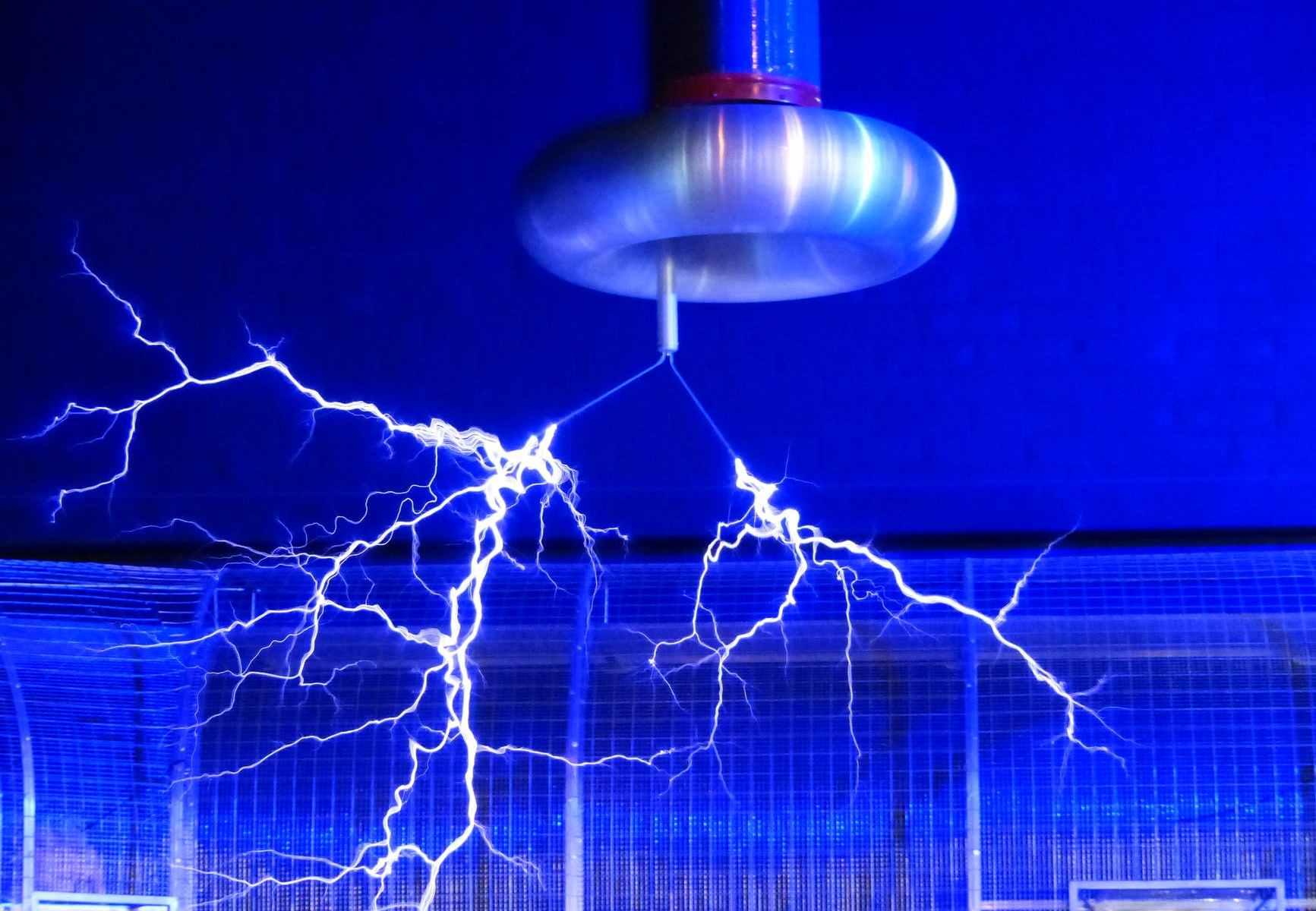 blue electric sparks