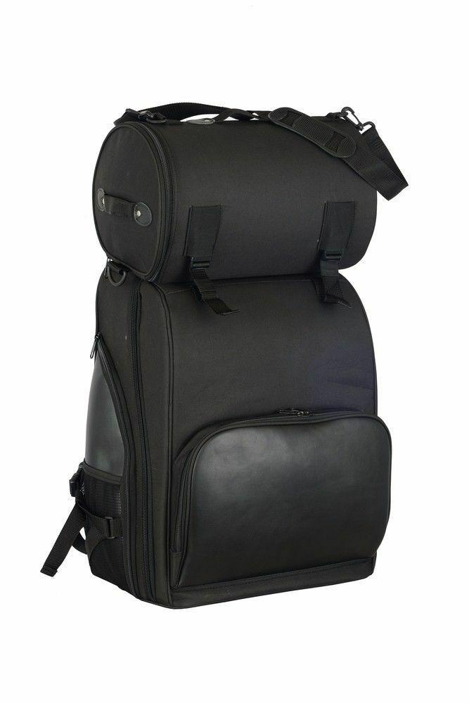 Updated Motorcycle Luggage Touring Sissy Bar Bag DS393   Motorcycle Helmets Store   PURE HELMET