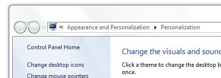 Change desktop icons