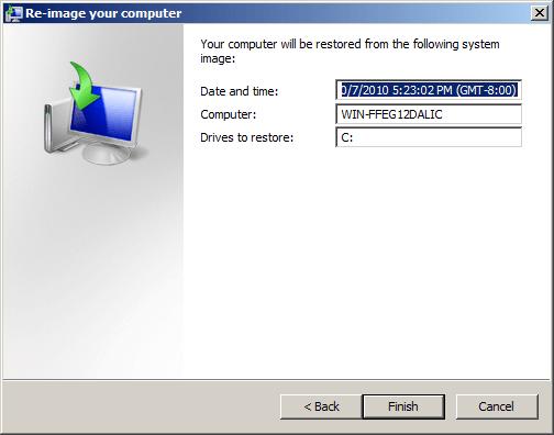 Last screen before reimaging