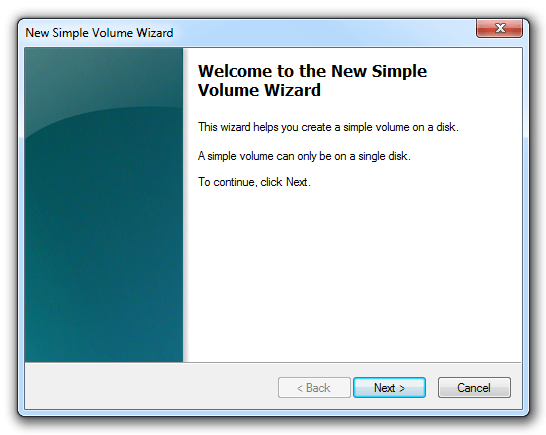 how to create new partition in windows 7