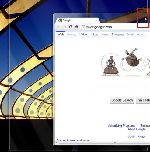 Windows 7 - Snap window