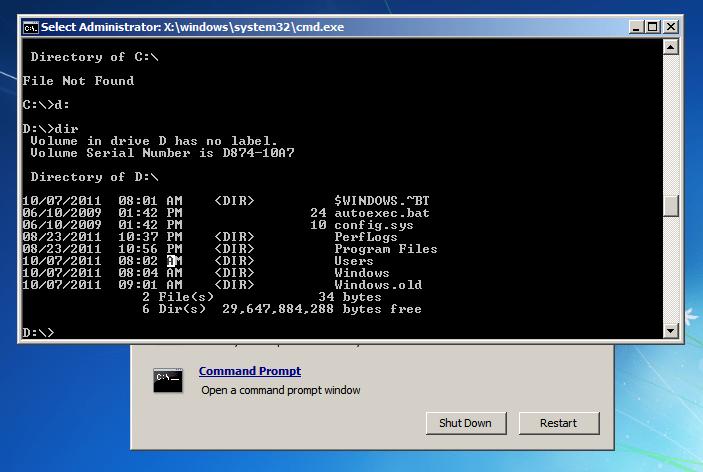 Uninstall Windows 8 - Windows 7 Command Prompt
