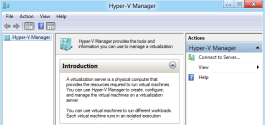 Windows 8 - Hyper-V Manager