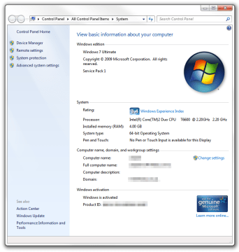 How to view system information on Windows 7 • Pureinfotech
