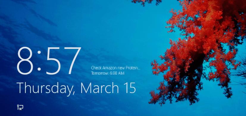 Lock screen - Windows 8