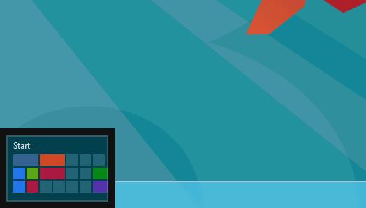 Start Screen button - Windows 8