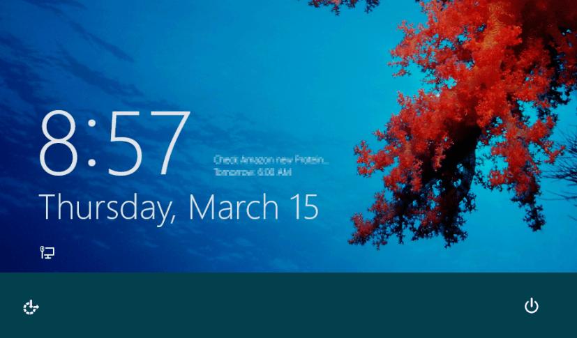 Unlocking Windows 8 screen