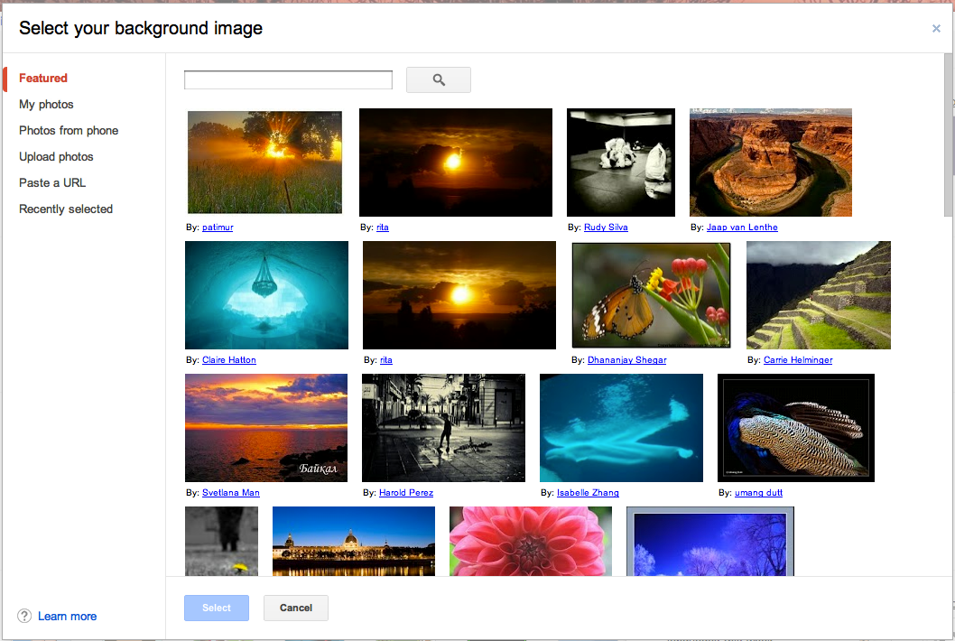 how to change background image in gmail account