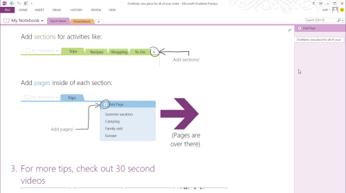 OneNote page