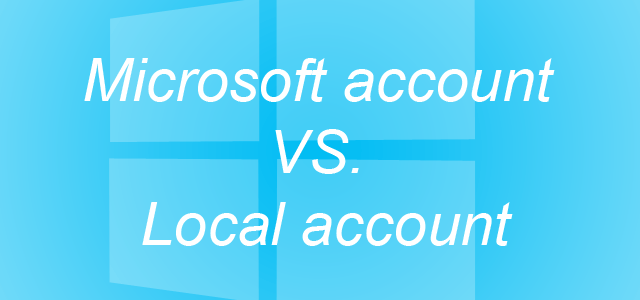 Windows 8 different account types