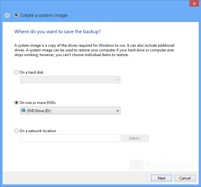 How to create a Windows 8 system image or full backup (step-by-step