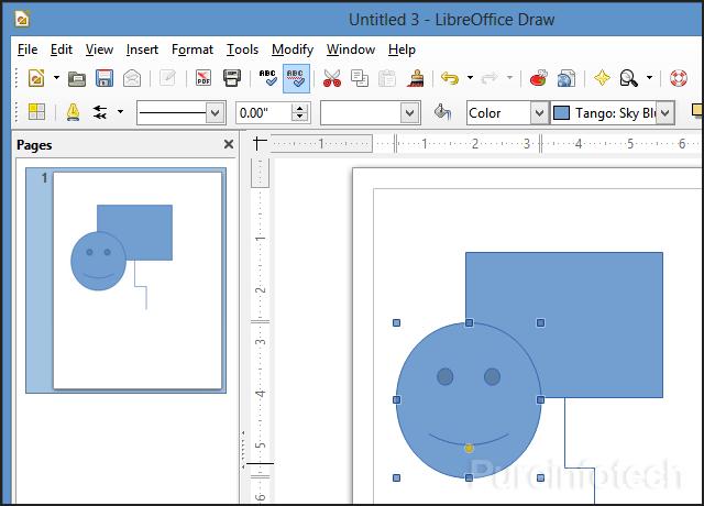Draw visio application