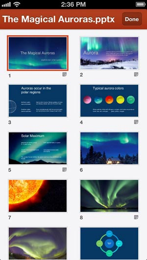 PowerPoint for iPhone, Office Mobile 300_wide