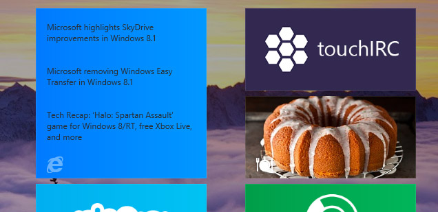 IE11 pinned site Start screen