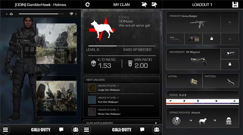 Call of Duty: Ghost companion app for Windows Phone 8