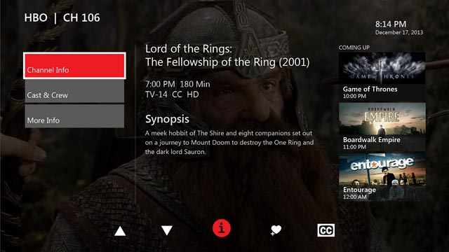 Xbox One FiOS TV app