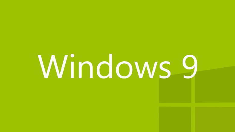 Windows 9 logo green
