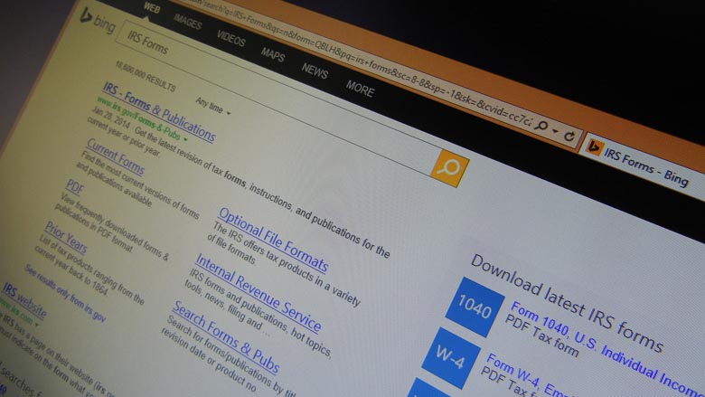 Bing Quickly Helps You To Find Irs Forms To Do Your Taxes With