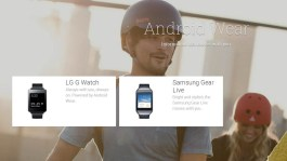 Android Wear smartwatches at the Google Play Store