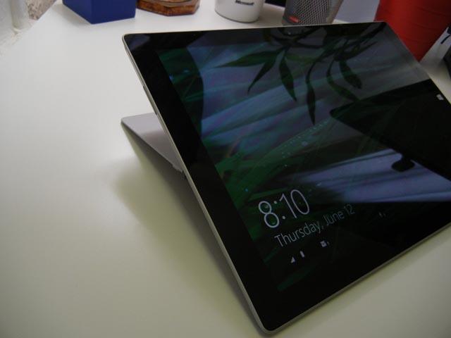 Surface Pro 3 kickstand at 150 degrees