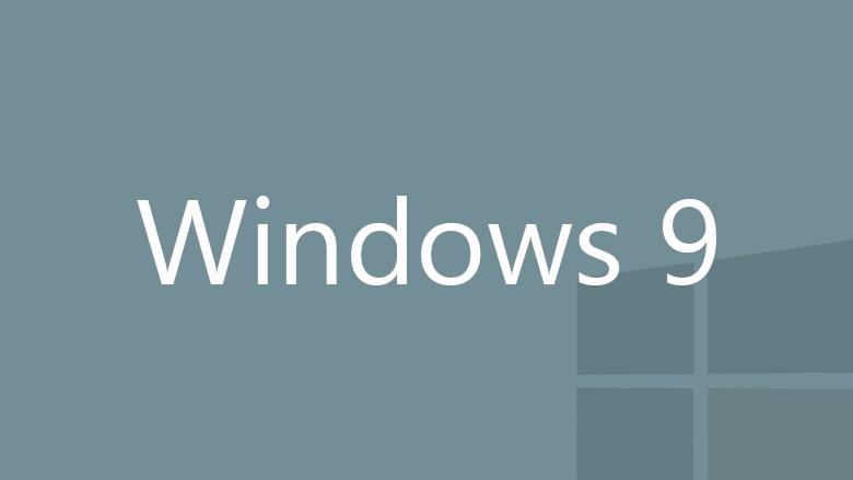 Windows 9 gray logo