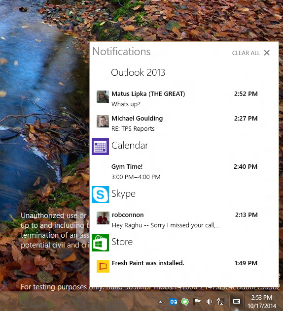 Windows 10: Action Center brings notifications to the desktop ...