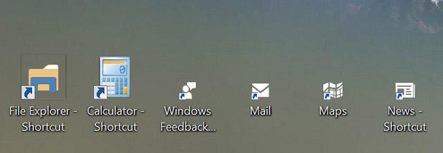 how to make an app shortcut on desktop windows 10