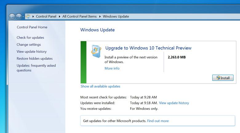 windows 7 to windows 10 upgrade