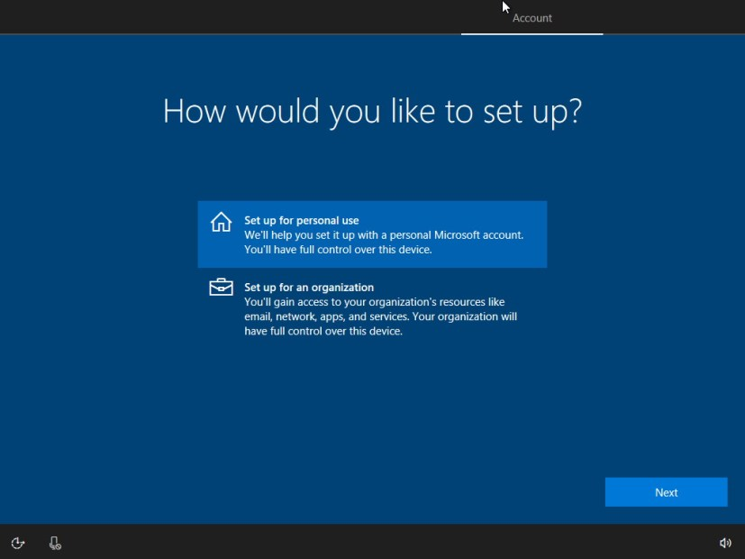 Windows 10 set up for personal use settings