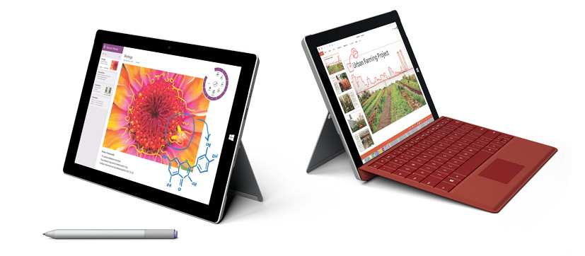 Surface 3 with Type Cover, Pen