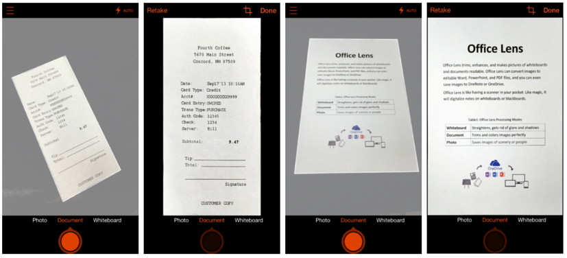 Office Lens - before and after