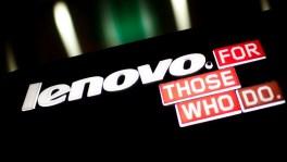 Lenovo logo and slogan