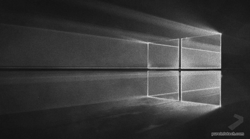 Windows 10 default wallpaper made of light