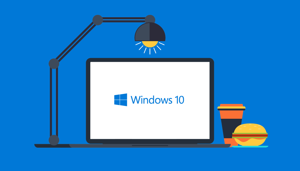 Windows 10 Logo Cartoon