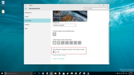 Disabling the sign-in default background picture on Windows 10
