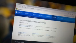 Microsoft Edge extension support